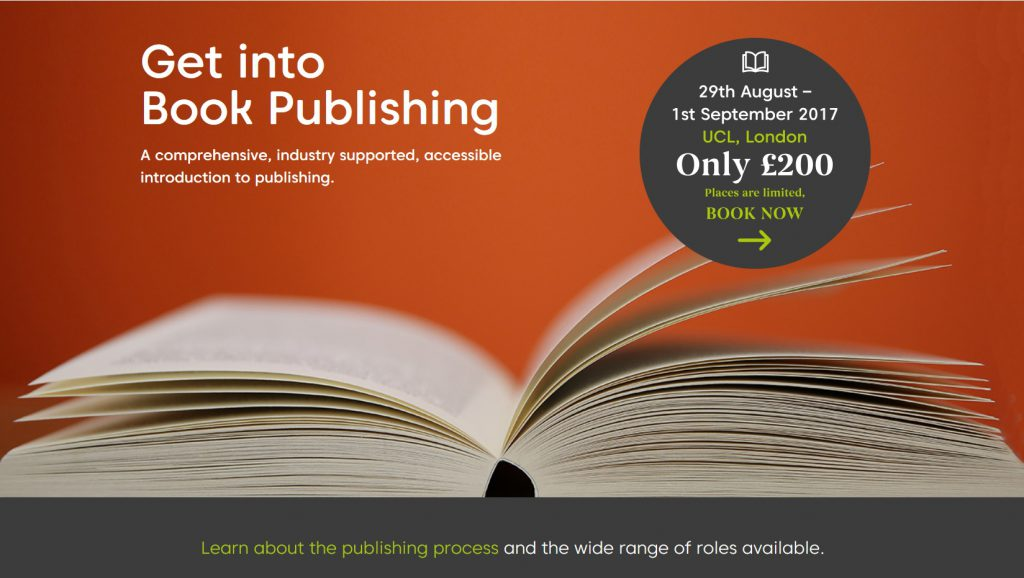Get into book publishing advertisement
