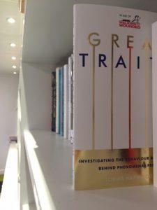 Great Traits book displayed on a bookshelf