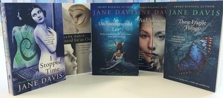 Books by Jane Davis displayed