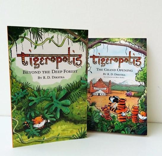 Tigeropolis books on display